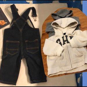 Baby Gap Jeans overalls.. Fleece jackets